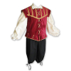 Men's Burgundy Renaissance Doublet Set I