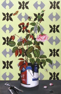 ROSEBUSH 15.75 x 27.5 inchesacrylic on canvas