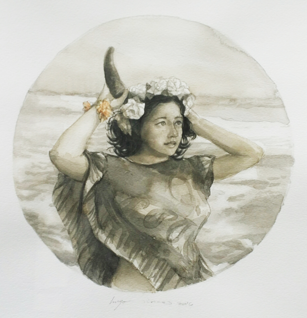 Girl with horn