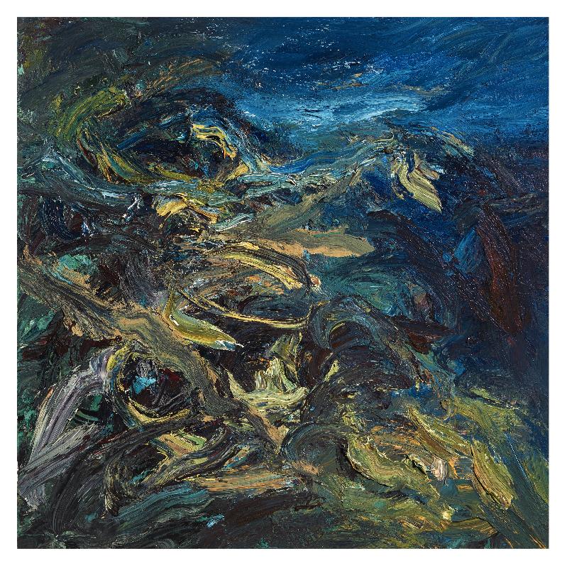 VHZ_LA RIVER STUDY_III_36 x 36_oil on canvas
