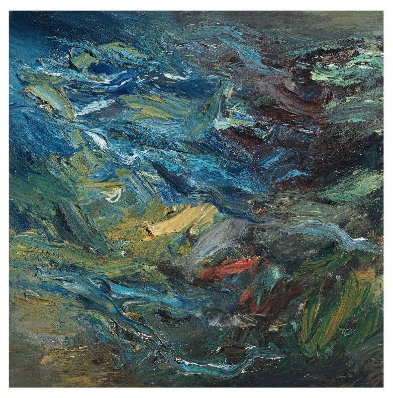 VHZ_LA RIVER STUDY_II_36 x 36_oil on canvas