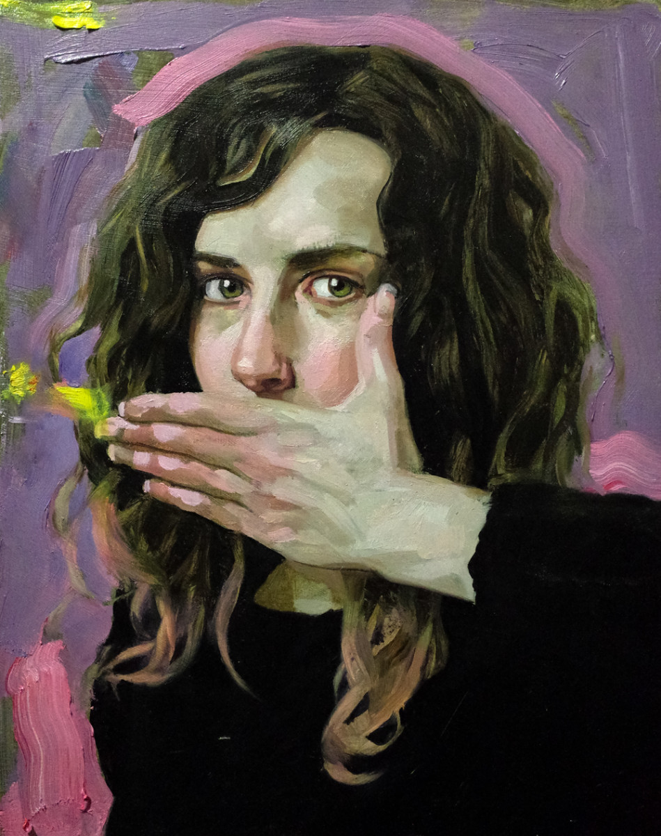 Helene Delmaire UNTITLED 2 16 x 12 inches oil on wood