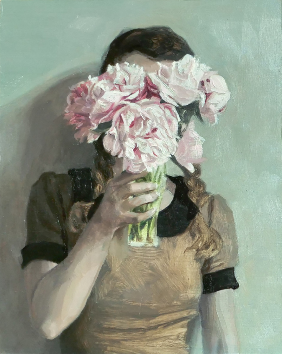 Helene Delmaire UNTITLED 3 10 x 8 inches oil on wood