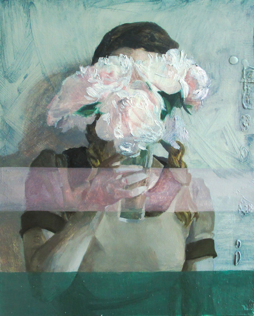Helene Delmaire UNTITLED 5 10 x 8 inches oil on wood