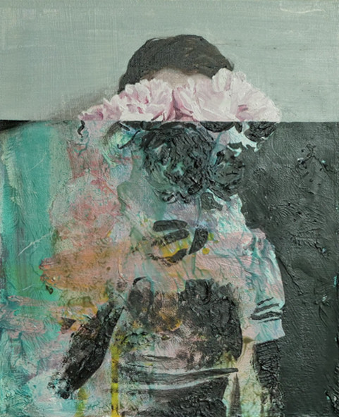 Helene Delmaire UNTITLED 6 10 x 8 inches oil on wood