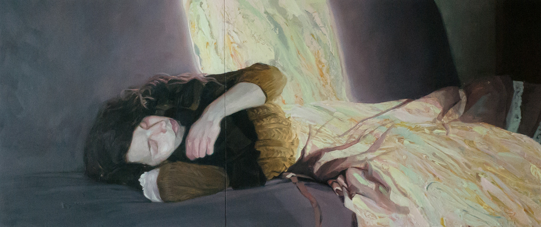 Helene Delmaire_UNTITLED_19.5 x 47.25 inches_oil