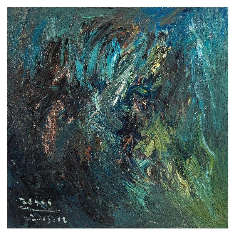 VHZ_LA RIVER STUDY_I_36 x 36_oil on canvas