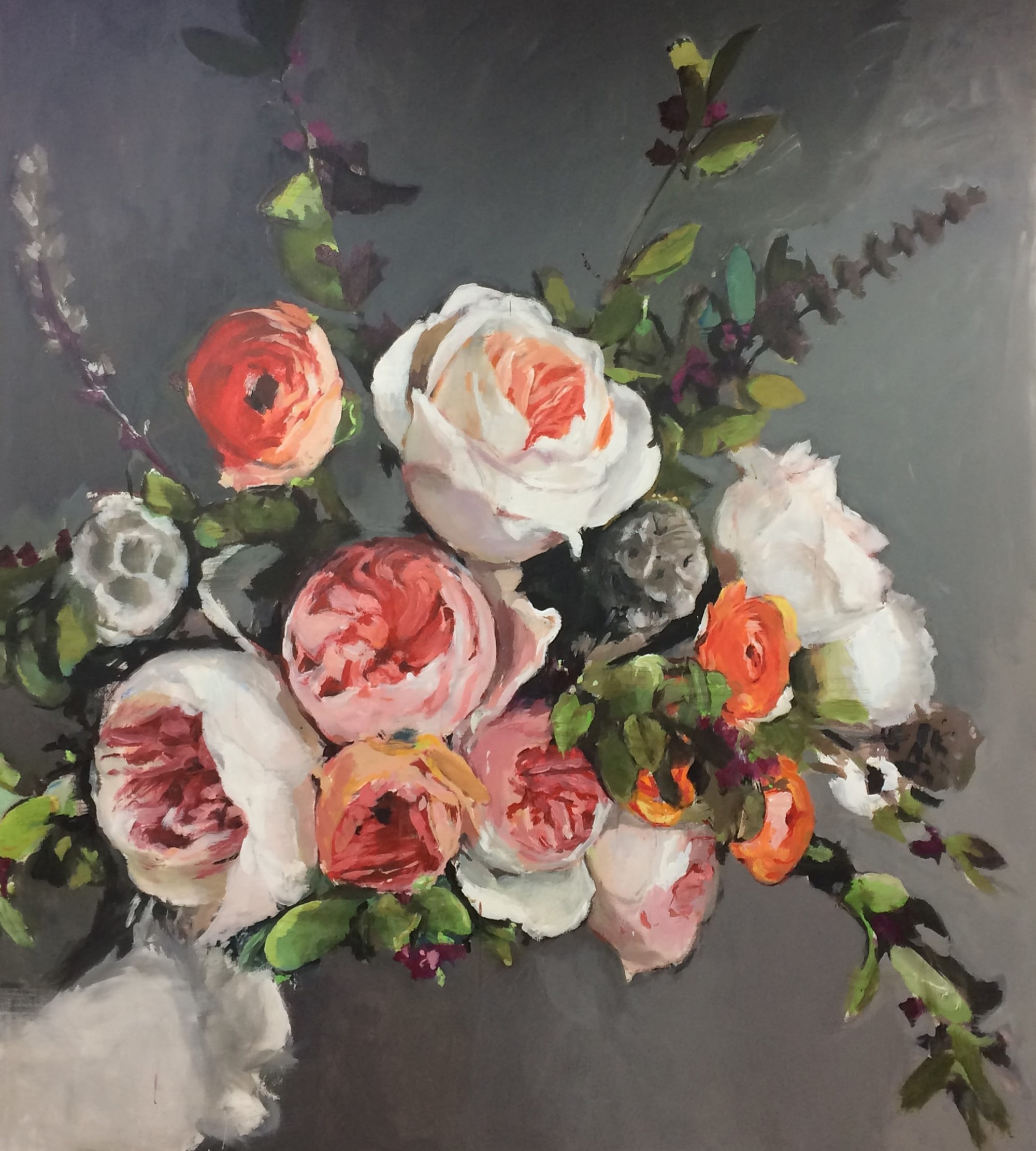 Michael Harnish_Bouquet_84 x 96 inches_oil