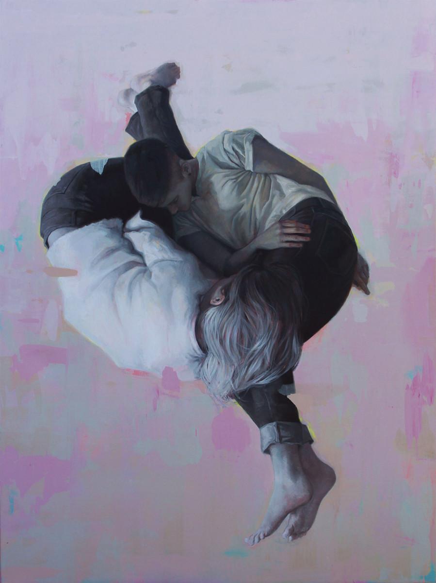 Johan Barrios ARTICULADO 68 x 48 inches oil on canvas