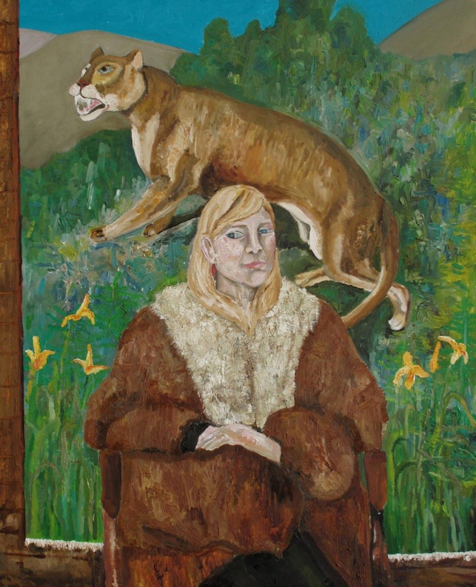 Mark_Milroy_LAURA WITH CAT_60 x 48 inches_oil
