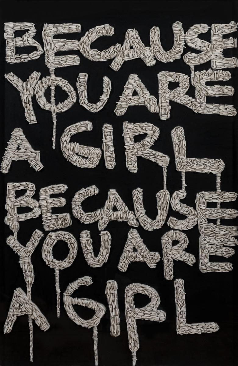 Eugenia Martinez_BECAUSE YOU ARE A GIRL_framed