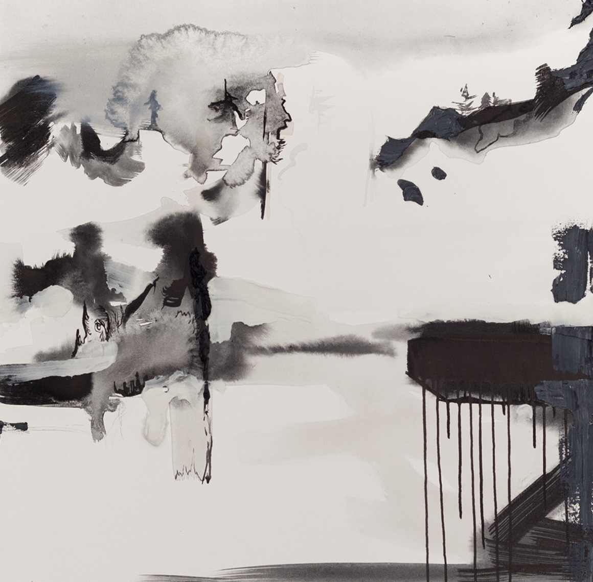 Andrea Welton_The Fog Surrounded the Giants_36 x 36 inches