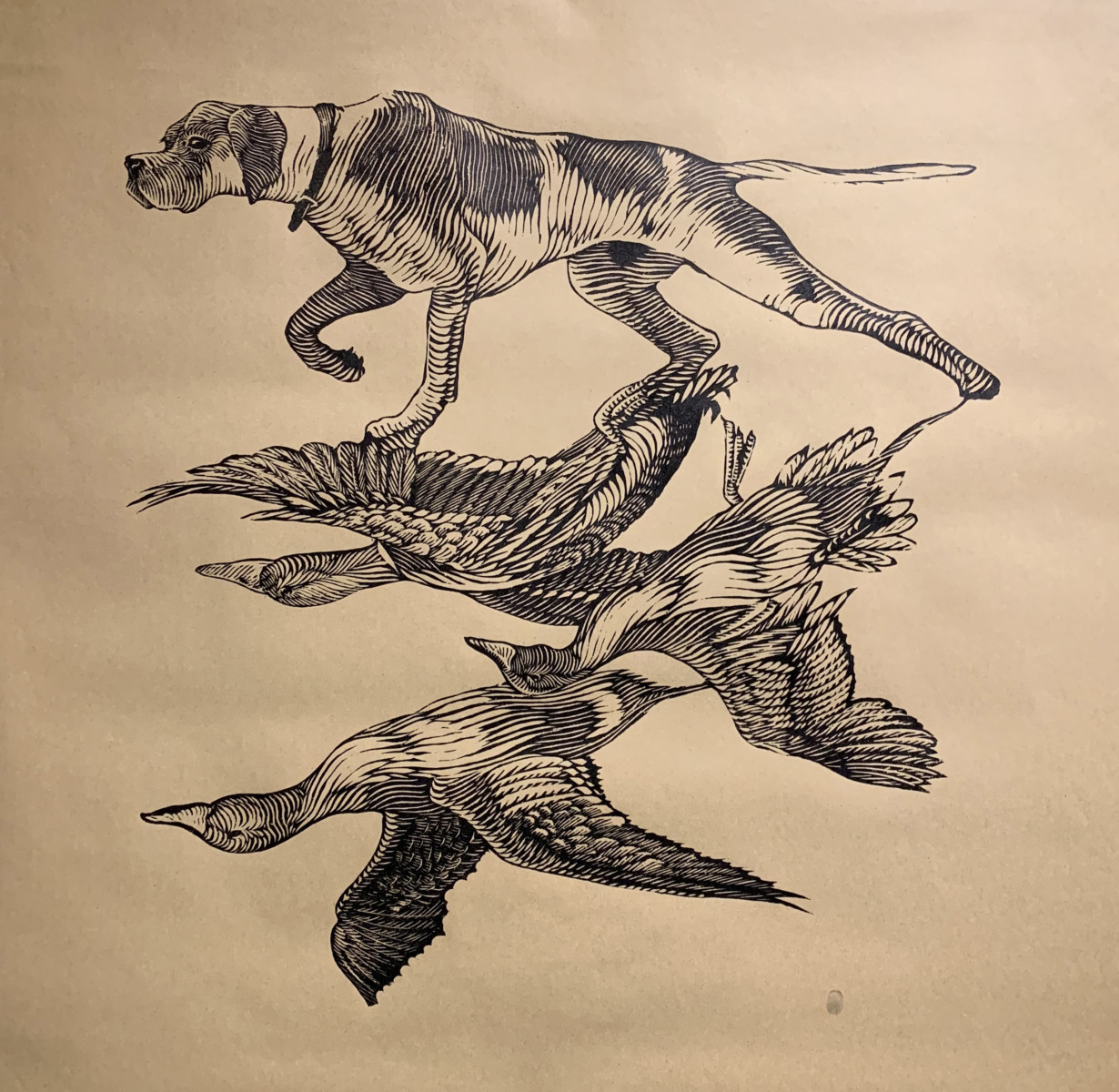 Osmeivy Ortega_HALF MY LIFE_45 x 45 inches_woodcut
