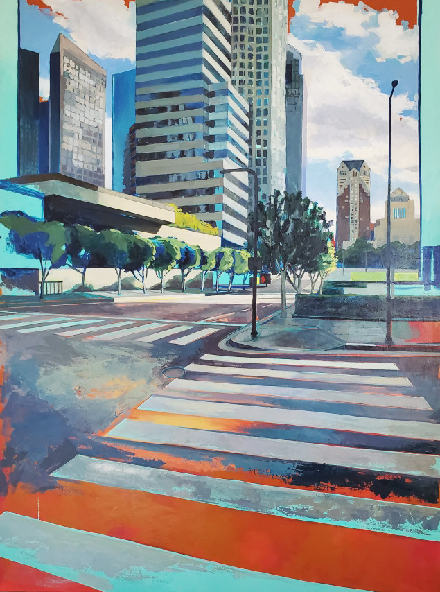 Victoria MacMillan_DOWNTOWN CROSSING_48 x 36 inches