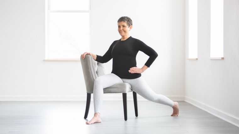 chair lunge exercise for seniors