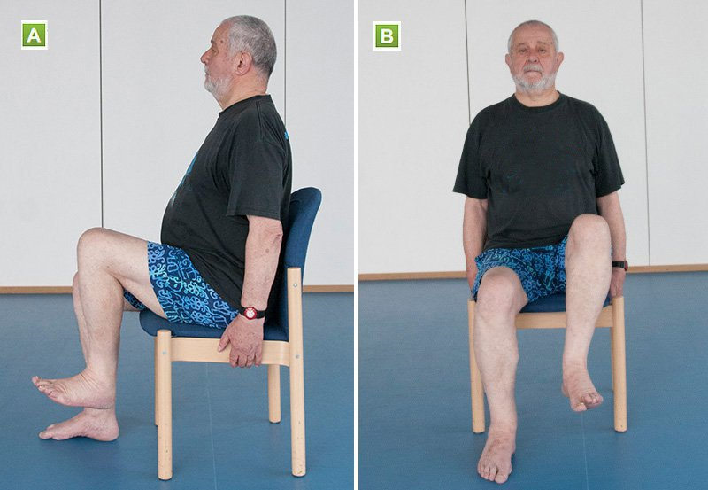 hip flexor seated marches