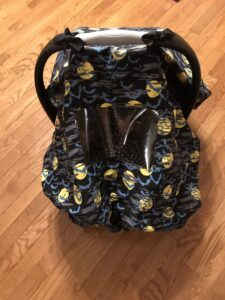 "Finished car seat ""mask"""