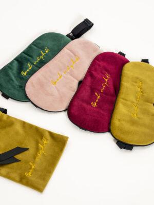 Luxurious Velvet and Mulberry Silk Adjustable Strap Sleeping Mask