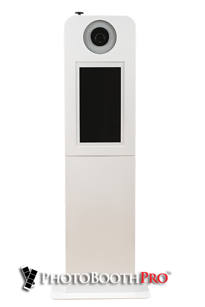 Photo Booth For Sale - Selfie Max Photo Kiosk front view no umbrella light