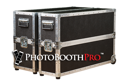 Selfie Max Photo Kiosk - travel road cases with wheels