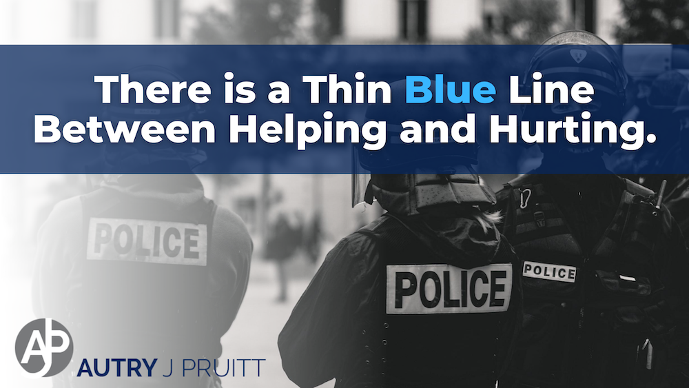 There is a Thin Blue Line Between Helping and Hurting