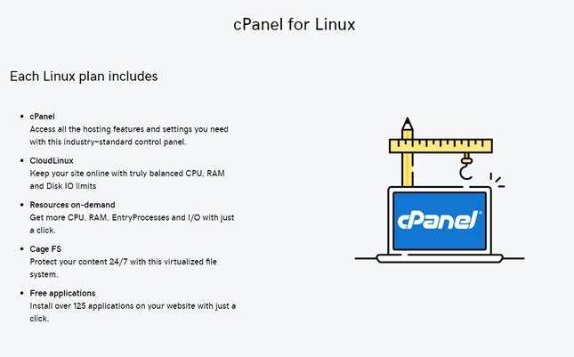 cPanel linux hosting