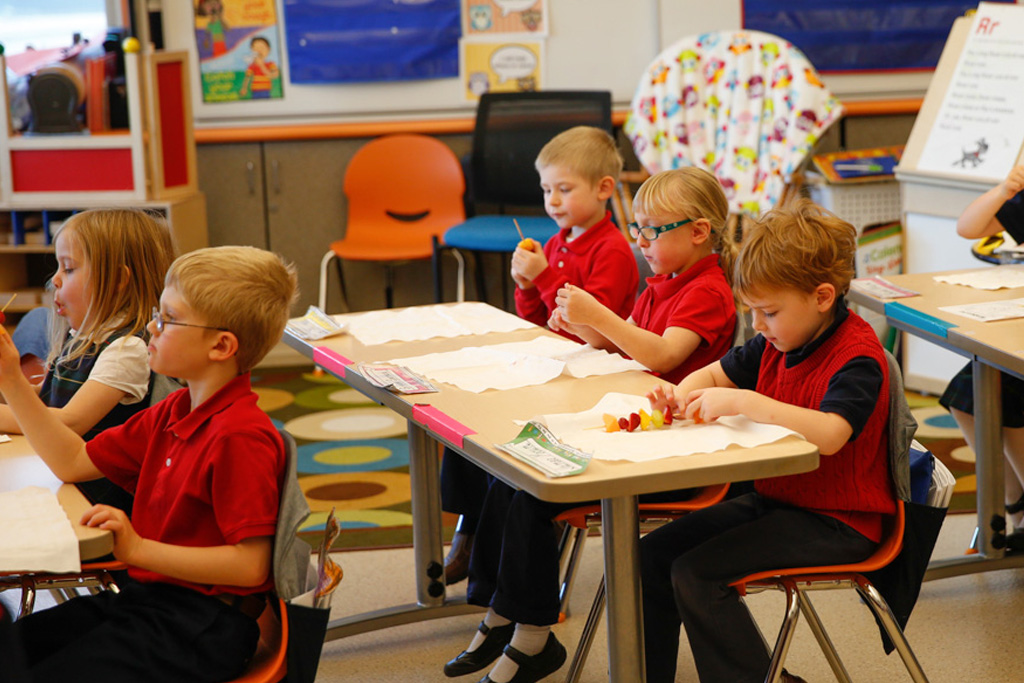 Students at Saint Elizabeth Ann Seton School thrive in a safe environment.