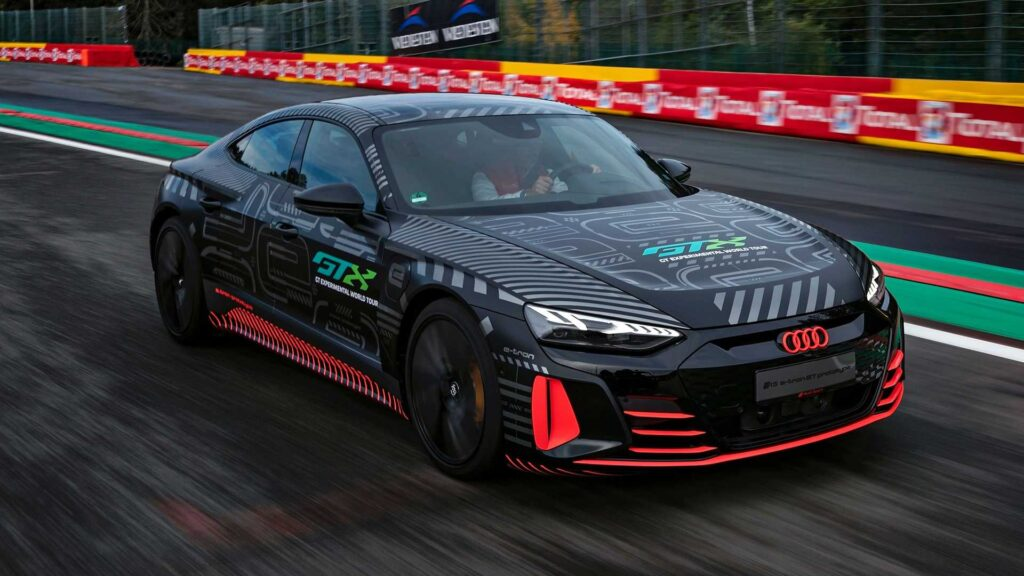 Audi RS E-Tron GT prototype on the road