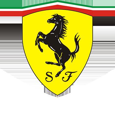 Ferrari Logo - Large - White2
