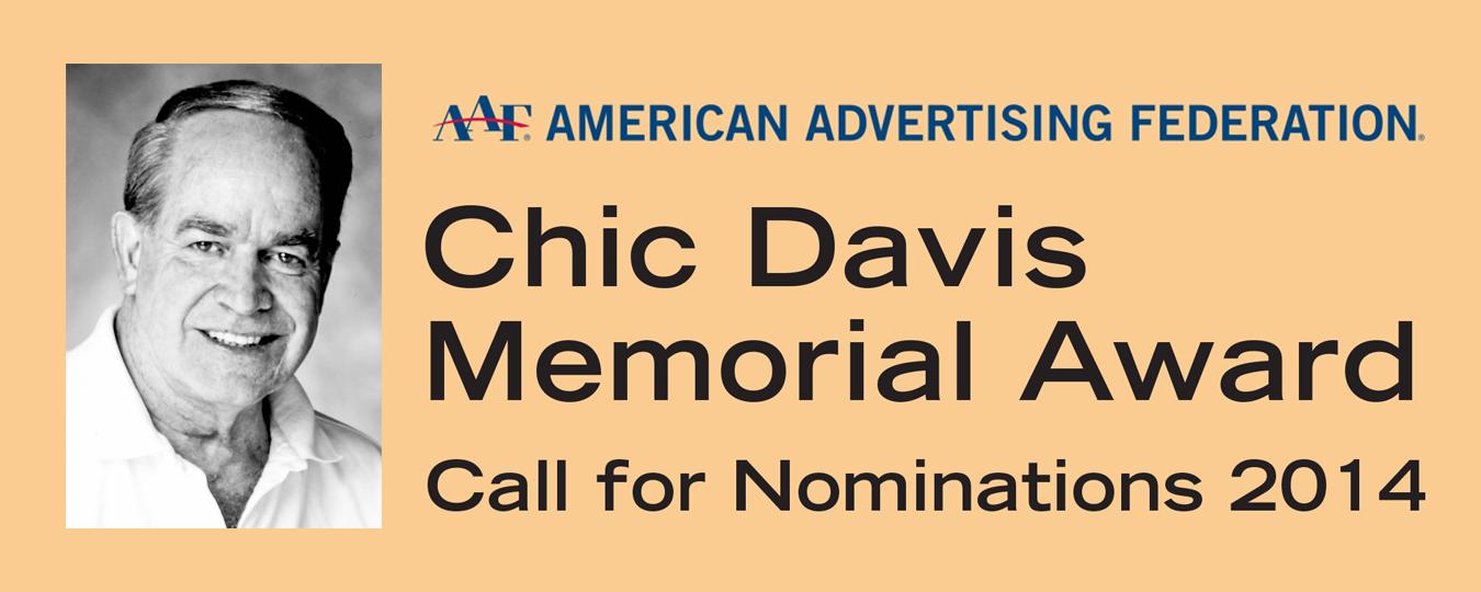 Call for Nominations 2014: Chic Davis Memorial Award