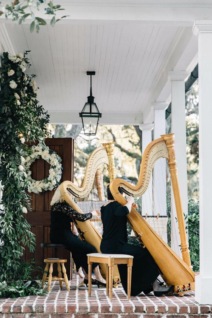 wedding harp player charleston