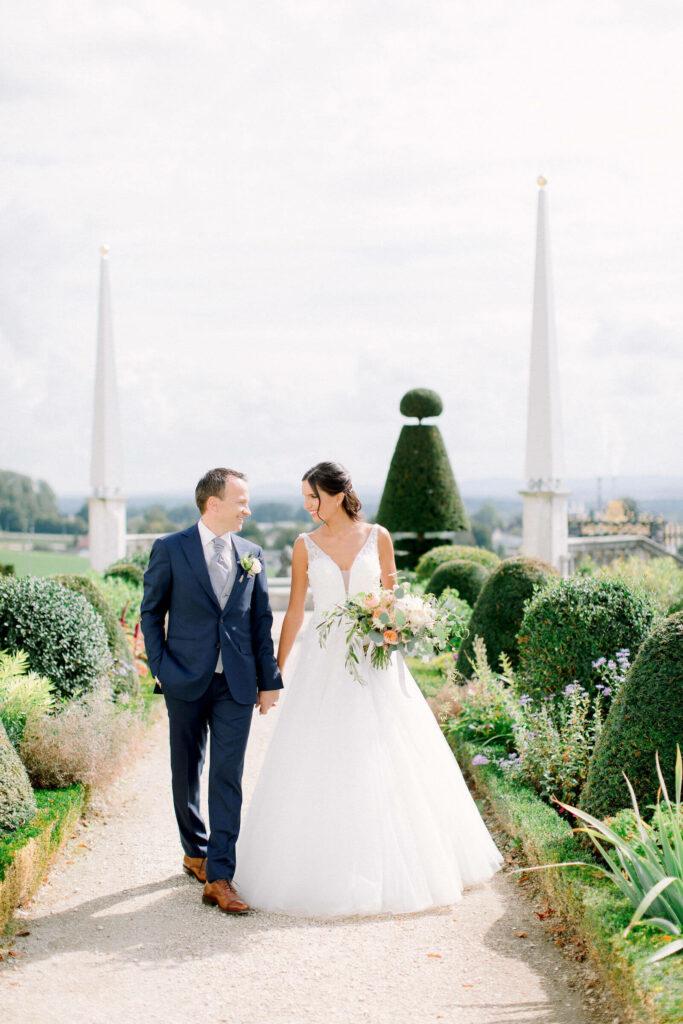 Wedding at Waldegg Castle marriage couple