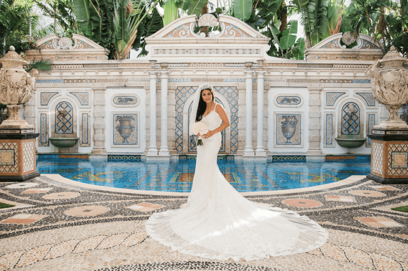 Bride Patricia at Versace mansion photo by Jan Freire