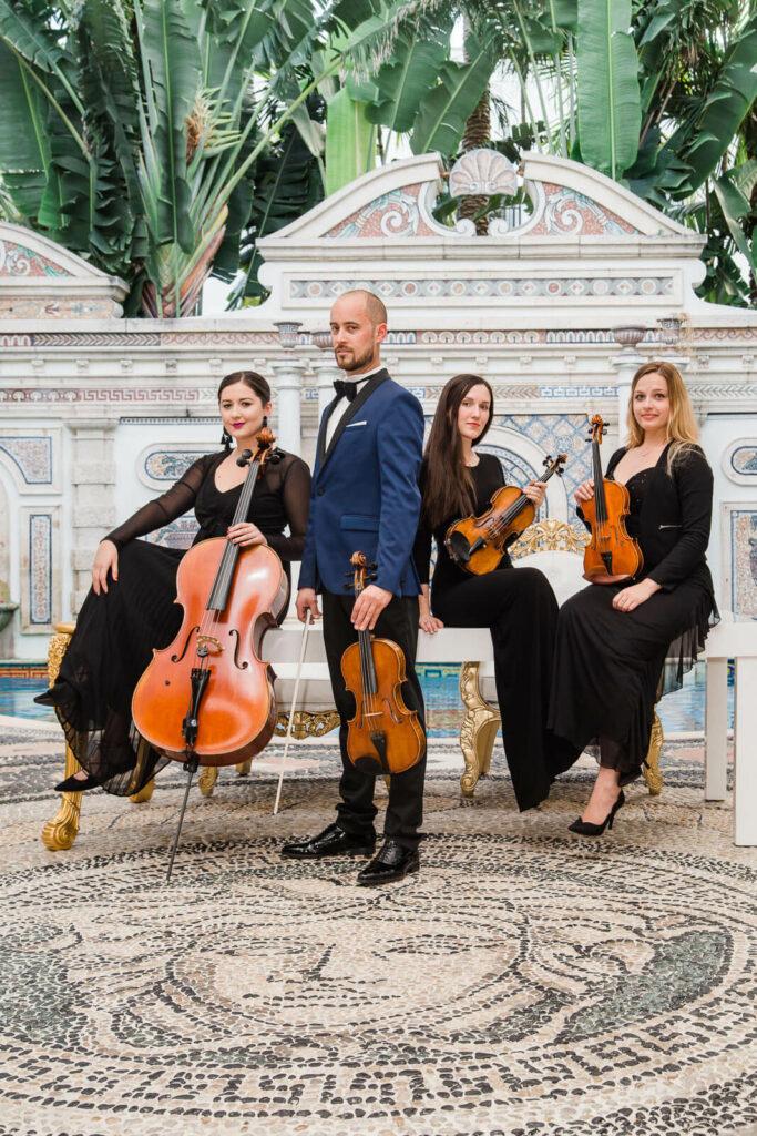 Miami Wedding String Quartet Kiral Artists photo by Jan Freire