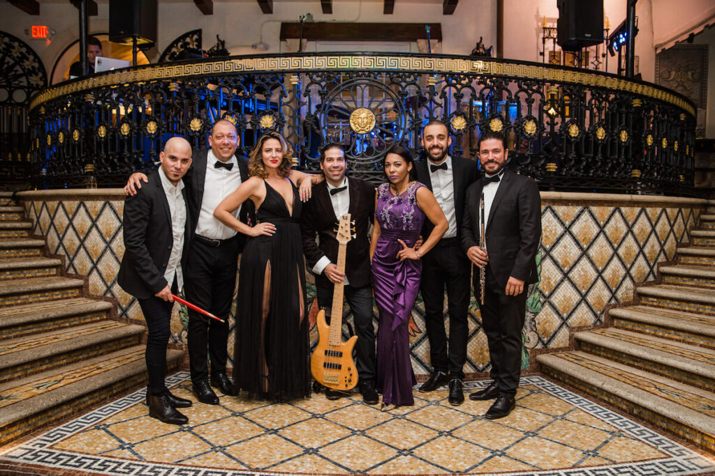 Kiral Artists' Wedding Band @ Versace Mansion in Miami Beach photo by Jan Freire