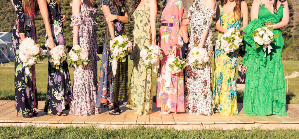 brides maid dress idea - wedding in Aspen