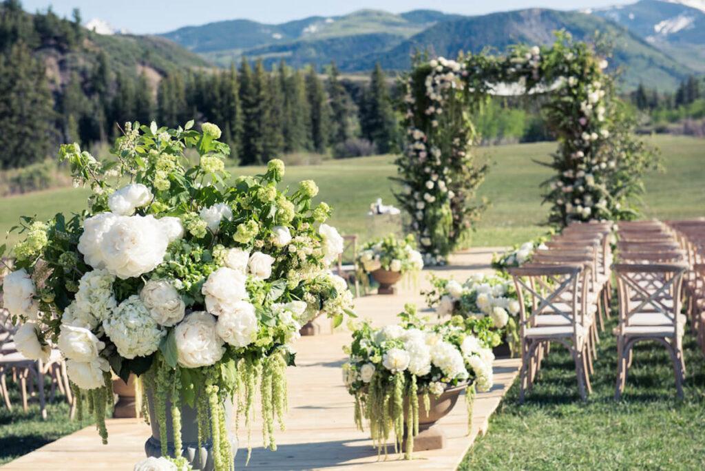 Wedding aisle inspiration - wedding in Aspen, CO
