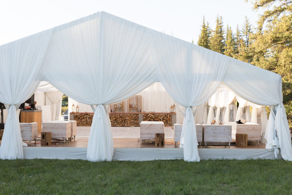 afterparty wedding tent