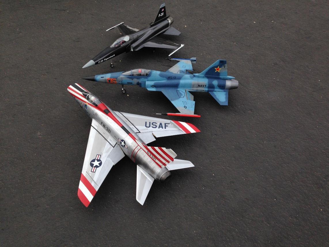 F-100 Super Sabre & F-20 Tigersharks
