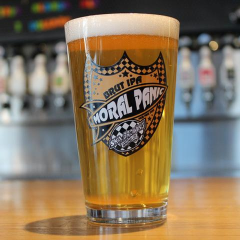Ska Brewing Moral Panic Brut IPA Pint Glass