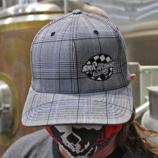 Ska Brewing Flexfit Plaid Cap Hat