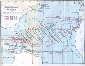 map-of-columbus-voyages