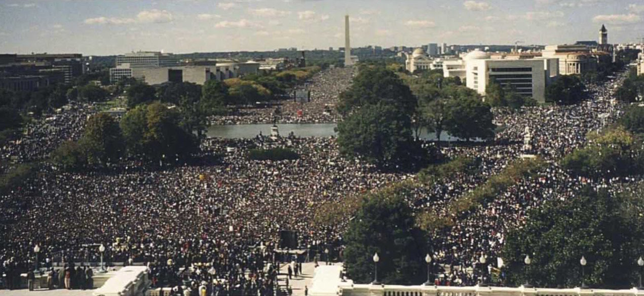 The Million Man March on the Washington Mall, October 16, 1995