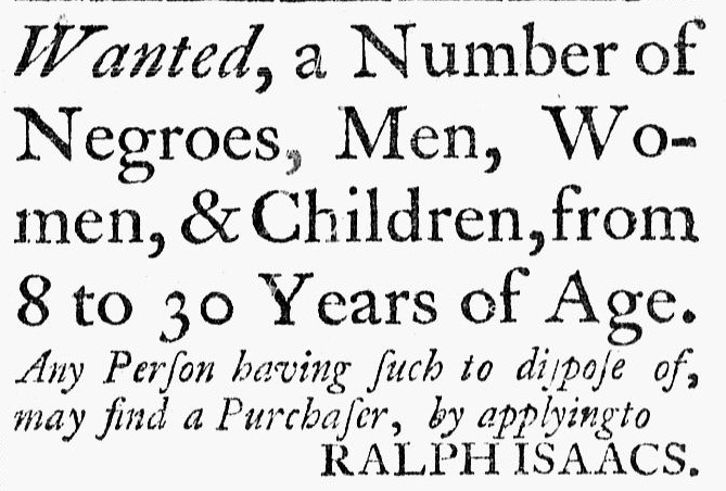 Connecticut Journal; 10-30-1772; New HavenRalphIsaacs