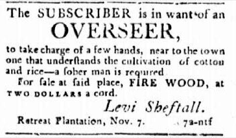 Georgia Jewish slave trader Levi Shetfall