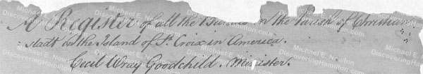 Burial of a James Hamilton, July 13, 1769, 1