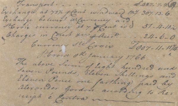 James Hamilton collects debt from Alexander Moir & Alexander Gordon 2