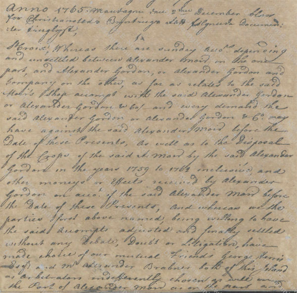 Alexander Moir and Alexander Gordon arbitration 1