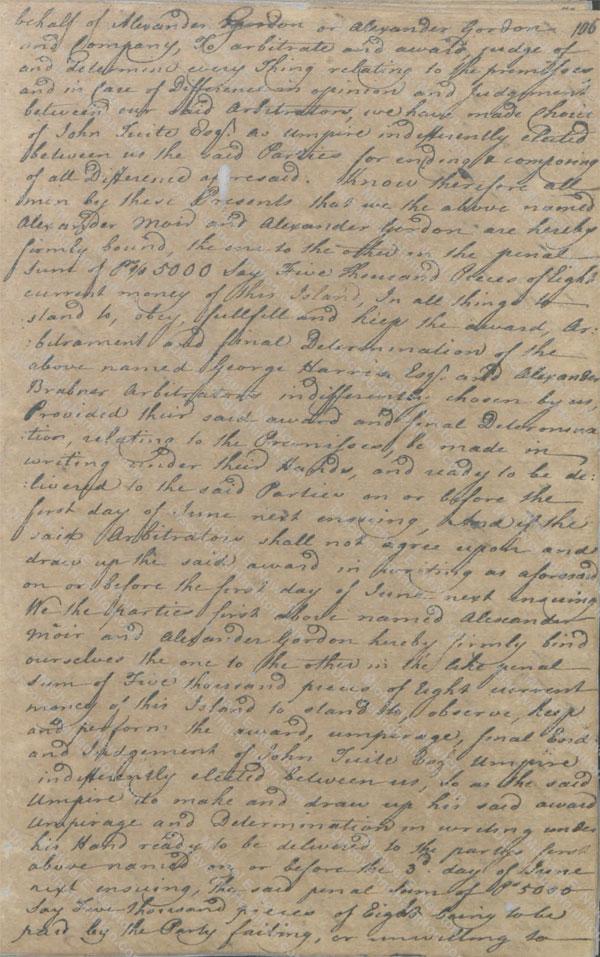 Alexander Moir and Alexander Gordon arbitration 2