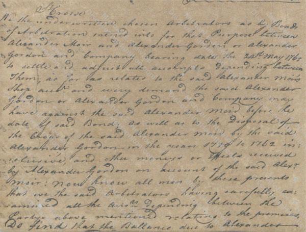 Alexander Moir and Alexander Gordon arbitration 4